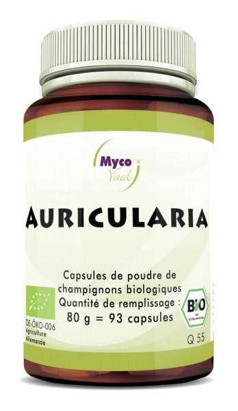 Auricularia Gélules de poudre de champignon vital biologique