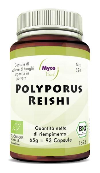 Polyporus-Reishi Capsule di polvere di funghi organici (miscela 324)