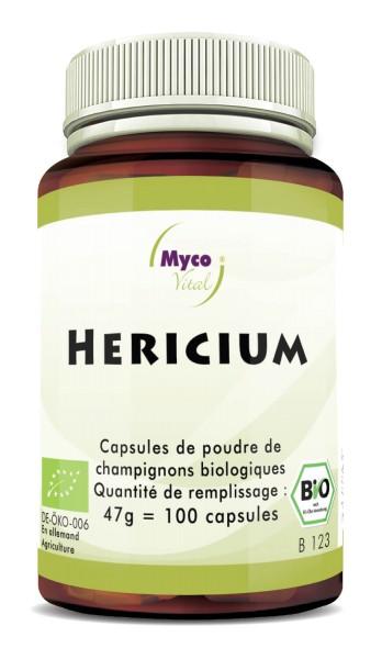 Hericium Capsules de poudre de champignons bio vitaux