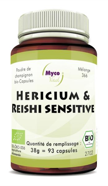 BIO HERICIUM-REISHI sensitive capsules de poudre de champignon (mélange 366)
