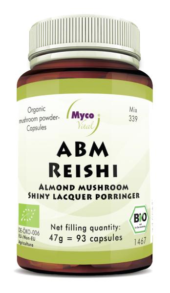 ABM-Reishi Organic mushroom powder capsules (blend 339)