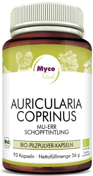 AURICULARIA-COPRINUS organic mushroom powder capsules (Blend no. 313)