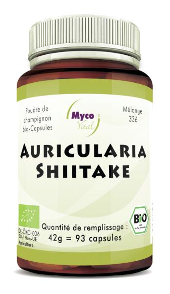 Auricularia-Shiitake Capsule di polvere di funghi organici (miscela 336)