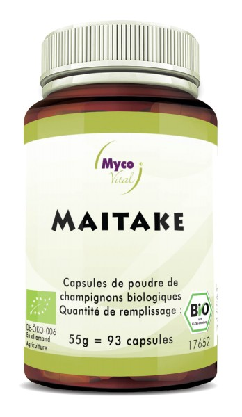 Maitake Capsules de poudre de champignons bio vitaux