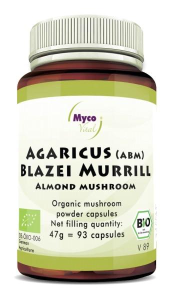 AGARICUS BLAZEI MURRILL (ABM) Organic Vital Mushroom Powder Capsules