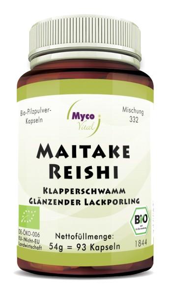 MAITAKE-REISHI Bio-Pilzpulver-Kapseln (Mischung 332)