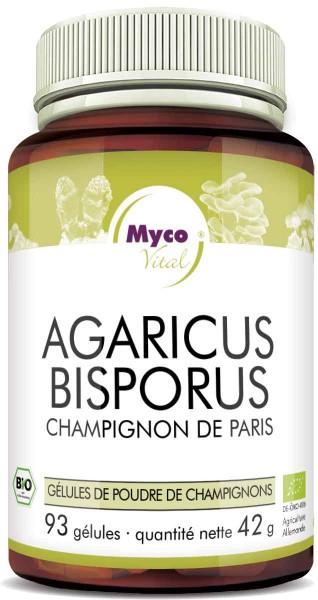 Agaricus Bisporus Capsules de poudre de champignons bio vitaux