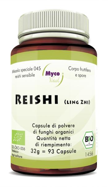 REISHI Sensitive Organic Vital Mushroom Powder Capsule di funghi vitali in polvere