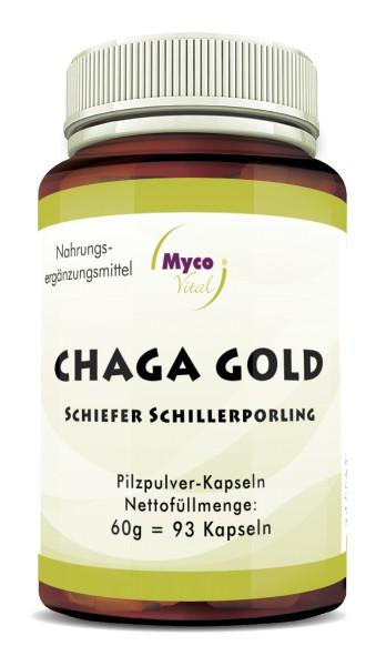CHAGA Gold mushroom powder capsules