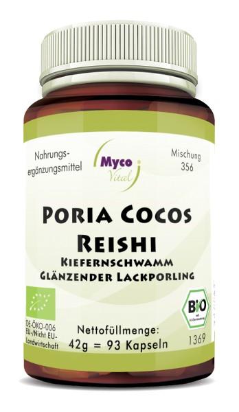 PORIA COCOS-REISHI Bio-Pilzpulver-Kapseln (Mischung 356)