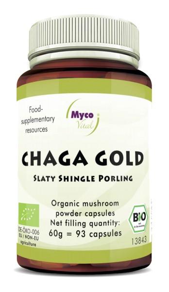 Chaga gold capsules organic vital mushroom powder