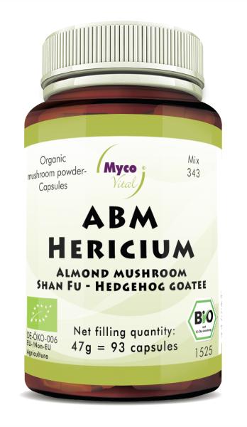 ABM-Hericium Organic mushroom powder capsules (blend 343)