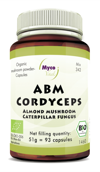 ABM-CORDYCEPS organic mushroom powder capsules (Blend no. 342)