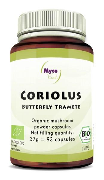 Coriolus Capsules de poudre de champignons bio vitaux