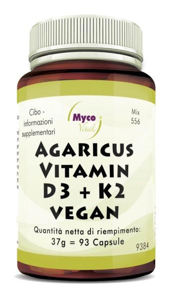 AGARICUS-VITAMINA D3 + K2 Capsule VEGAN (Miscela 556)