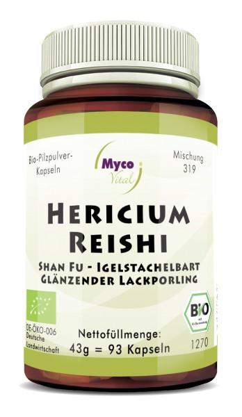 HERICIUM-REISHI Bio-Pilzpulver-Kapseln (Mischung 319)