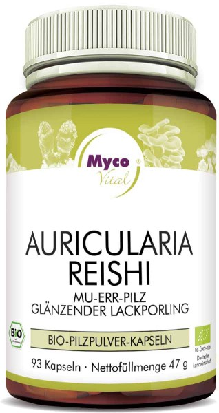 AURICULARIA-REISHI Bio-Pilzpulver-Kapseln (Mischung 341)