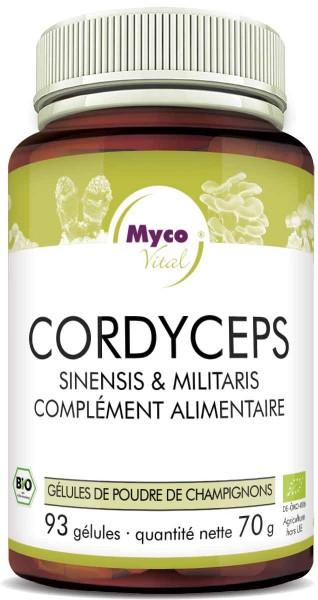 Cordyceps Capsules de poudre de champignons bio vitaux