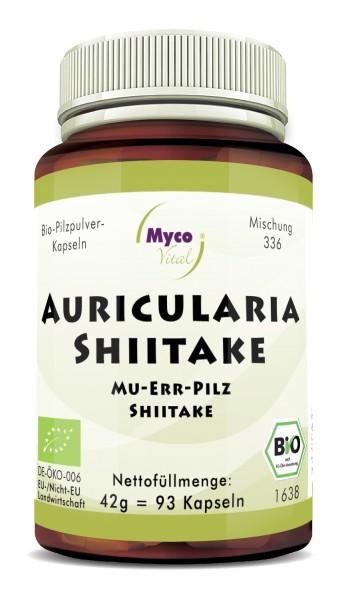 AURICULARIA-SHIITAKE Bio-Pilzpulver-Kapseln (Mischung 336)