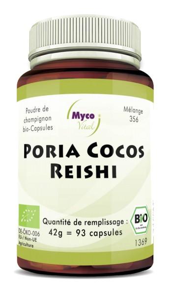 Poria Cocos-Reishi Capsules de poudre de champignons biologiques (mélange 356)