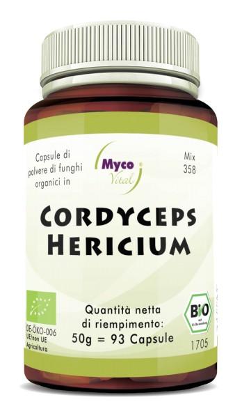 Cordyceps-Hericium Capsule di polvere di funghi organici (miscela 358)