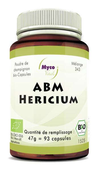 ABM-Hericium Capsules de poudre de champignons biologiques (mélange 343)