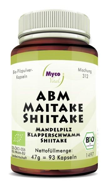 ABM-MAITAKE-SHIITAKE Bio-Pilzpulver-Kapseln (Mischung 312)