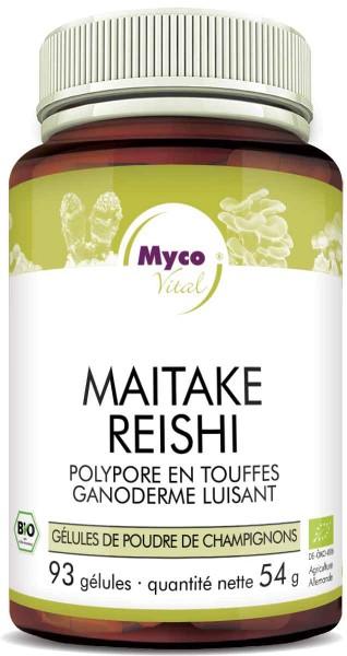 Maitake-Reishi Capsules de poudre de champignons biologiques (mélange 332)