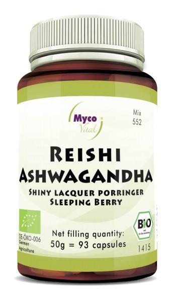Reishi-ASHWAGANDHA organic powder capsules (blend 0552)