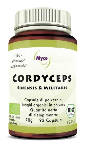Cordyceps Capsule di polvere di funghi vitali organici