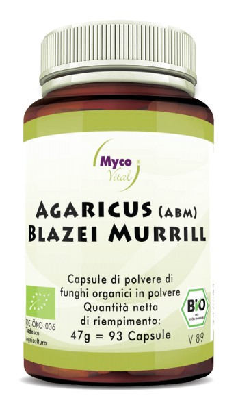 AGARICUS BLAZEI MURRILL (ABM) Capsule di polvere di funghi vitali organici