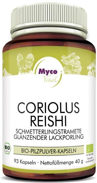 CORIOLUS-REISHI Bio-Pilzpulver-Kapseln (Mischung 351)
