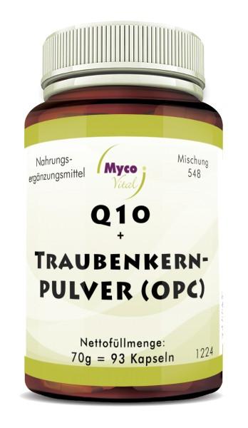 Q10 + TRAUBENKERN-KAPSELN (OPC) aus nicht entölten Bio-Traubenkernen (Mischung 548)