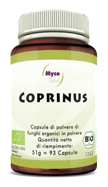 Coprinus Capsule di polvere di funghi vitali organici