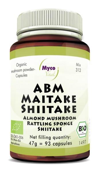 ABM-Maitake-Shiitake Organic mushroom powder capsules (blend 312)