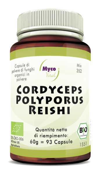 Cordyceps-Polyporus-Reishi Capsule di polvere di funghi organici (352)