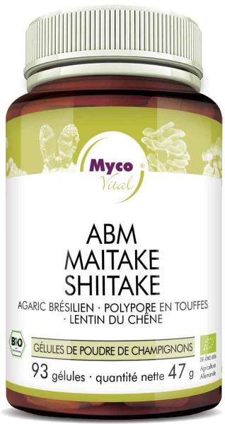 ABM-Maitake-Shiitake Capsules de poudre de champignons biologiques (mélange 312)