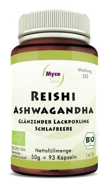 REISHI-ASHWAGANDHA-Bio-Pulver-Kapseln (Mischung 0552)