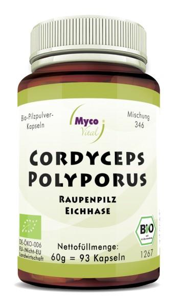 CORDYCEPS-POLYPORUS Bio-Pilzpulver-Kapseln (Mischung 346)