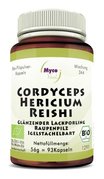 CORDYCEPS-HERICIUM-REISHI Bio-Pilzpulver-Kapseln (Mischung 344)