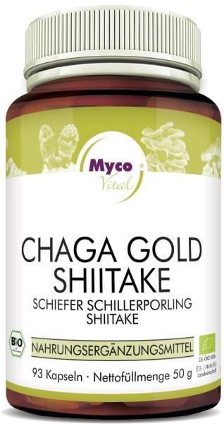 CHAGA GOLD-SHIITAKE Bio-Pilzpulver-Kapseln (Mischung 357)