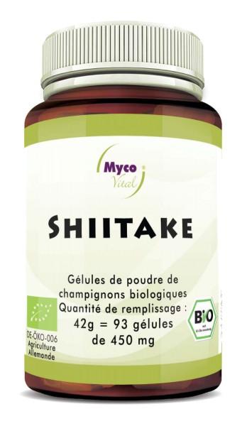 Shiitake Capsules de poudre de champignons bio vitaux