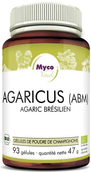 AGARICUS BLAZEI MURRILL (ABM) Capsules de poudre de champignons vitaux biologiques