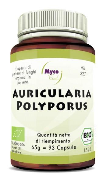 Auricularia-Polyporus Capsule di polvere di funghi organici (miscela 327)