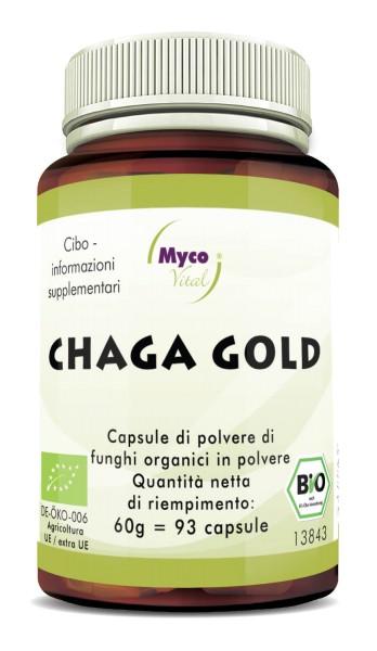 Chaga gold capsule polvere di funghi vitali organici