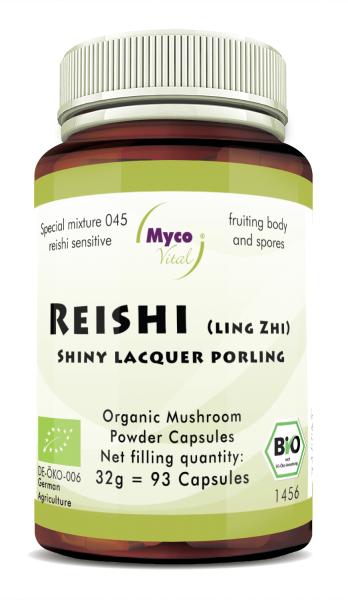 REISHI Sensitive organic mushroom powder capsules