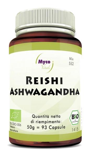 Reishi-ASHWAGANDHA capsule di polvere organica (miscela 0552)