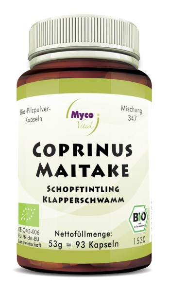 COPRINUS-MAITAKE organic mushroom powder capsules (Blend no. 347)