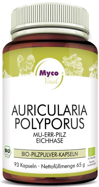 AURICULARIA-POLYPORUS Bio-Pilzpulver-Kapseln (Mischung 327)