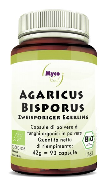Agaricus Bisporus Capsule di polvere di funghi vitali organici